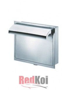 Cascada inox cajon pared