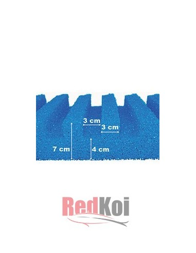 Esponja con canal T 58 x 27cm